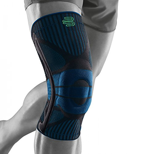 """Bauerfeind Kniebandage \""""Knee Support\"""" für Männer, 1 Sportkniebandage für Fußball, Joggen oder Fitness, Meniskus Knie-Bandage mit Silikonring, Rechts & links tragbar"""