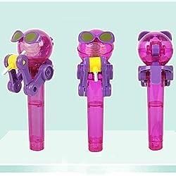 Lustige Neuheit-Spielwaren, Zucker Loquat-Roboter-Lutscher-Spielzeug-kreative lustige Spielwaren Neue merkwürdige Spielwaren Lutscher-Stand-Lutscher-Halter-schöne Roboter-Halter-Dekorations-Geschenk