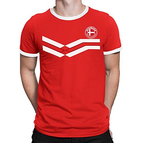 Tee Spirit Denmark Camiseta Para Hombre World Cup 2018 Fútbol New Style  Retro 711fc23b6