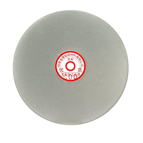 sourcingmap® 200mm 8-inch Grit 600 Diamond Coated Flat Lap Disk Wheel Grinding Sanding Disc