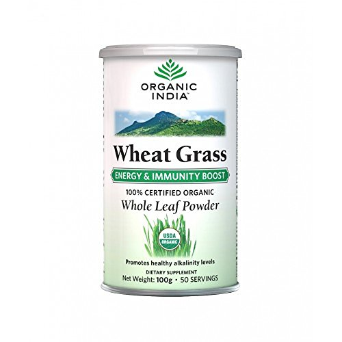Organic India Wheat Grass Powder (100 gm)  available at amazon for Rs.360