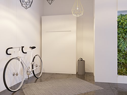 Schrankbett 120×200 cm Vertikal Weiß Schrankklappbett & Wandbett, ideal als Gästebett – Wandbett, Schrank mit integriertem Klappbett, SMARTBett - 2