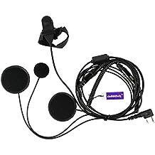 llena Cara Casco Moto Auricular Con Micrófono PTT Para 2 pin Kenwood HYT PUXING WOUXUN LINTON Walkie Talkie