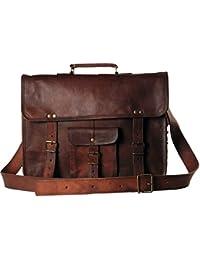 Mk Bags Vintage Bags Genuine Leather Messenger Bag Cum Office Bag 63