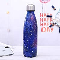 Botella de agua deportiva de acero inoxidable Botella estrellada creativa de cola Botella térmica portátil con