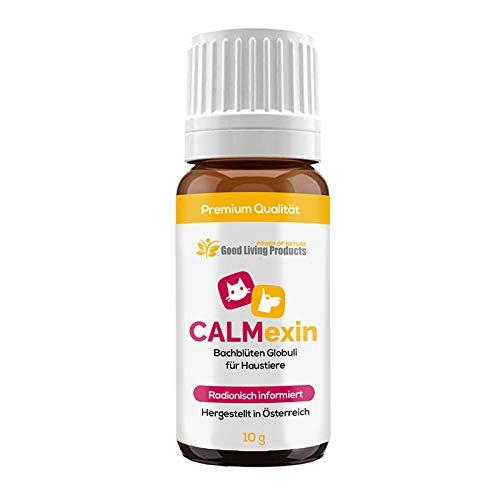 Calmexin - Beruhigungsmittel für Hunde | Bei Stress und Angst für Haustiere - Egal ob Katzen oder Hunde | Bachblüten Globuli radionisch informiert (1 Flasche)
