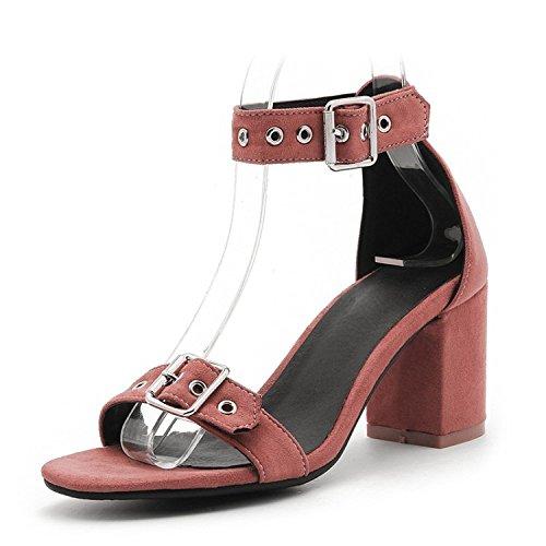 Neue Frauen Damen Mid Block Heel Knöchelriemen Braut Prom Party Brautjungfer Sandale Schuhe Größe,Brown-EU43=265 (Heel Satin Mid)