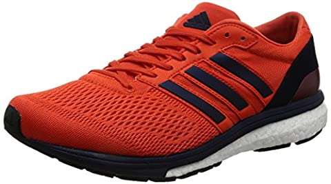 adidas Adizero Boston 6 Men's Running Shoes, Orange, UK7.5