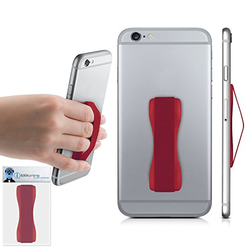 Red Case Compatible Anti-Static Finger Elastic Grip Holder with Strong Adhesive For Nokia Asha 210  available at amazon for Rs.237