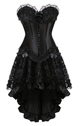 Grebrafan Damen Halloween Push Up Party Kleid Corsage -