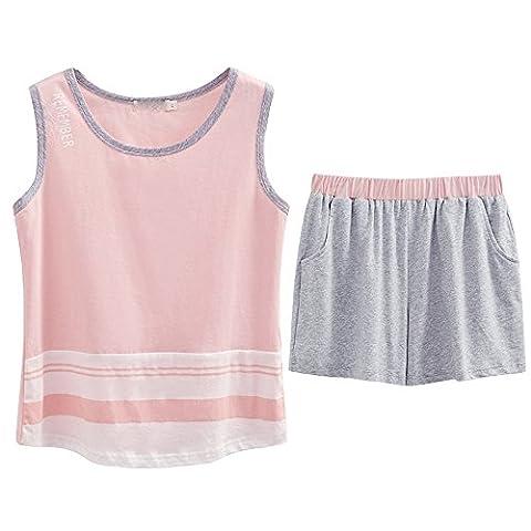 Ladies nightwear vest summer pure cotton sleeveless home kit slim, minimalist HOMEWEAR ,XXXL
