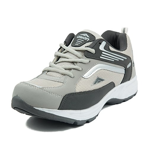 Asian Shoes Men's Light Grey & Dark Grey Sports Shoes(7 Uk)