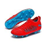 Puma Unisex-Kinder Future 19.3 Netfit FG/AG Jr Fußballschuhe Rot (Red Blast-Bleu Azur) 35 EU