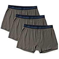 Amazon Brand - Goodthreads Men's 3-Pack Cotton Modal Stretch Knit Boxer Underwear, Dark Grey, Large