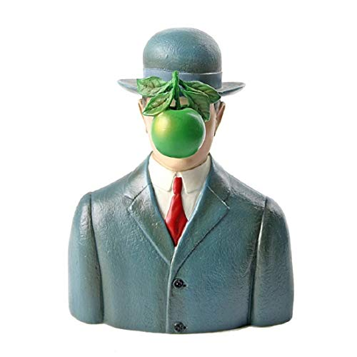 Escultura - The Son of Man (El Hijo del Hombre - resina, A13cm, basado de una obra de Magritte