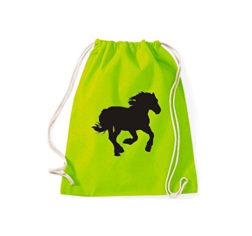 Zoo Natura Cavallo Gaio Foal Horse Gymsack Cult Bag Lime