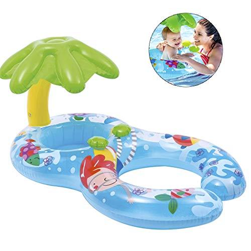 WuLi77 Schwimmbrett für Babybecken, aufblasbar, Doppel-Schwimmring