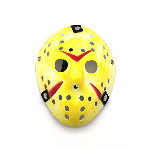 VAWAA Party Masken Jason Voorhees Beängstigend Prop Hockey Cosplay Gruselige Maske Freitag 13. Nizza (Voorhees Gesicht Jason)