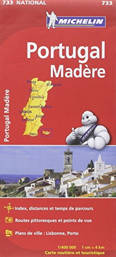 Carte NATIONAL Portugal Madère par Collectif Michelin
