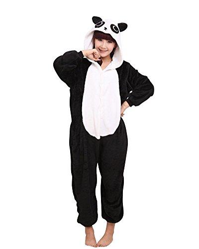Kenmont Jumpsuit Tier-Schlafanzug Neuheit Overall Einteiler/Pyjama Cosplay Kostüme für Erwachsene Kinder Karneval Halloween Weihnachten (Size S for 148-160CM, (Erwachsene Kostüme Für Panda)