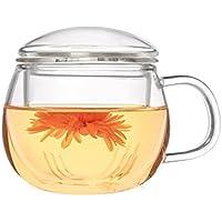 asentechuk® 300 ml transparente taza de calor taza de café, filtro de té con