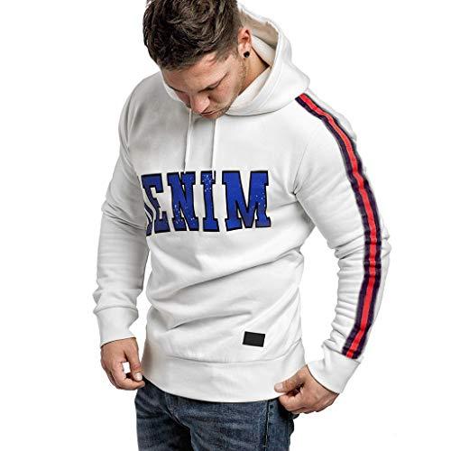 serliyHerren Kapuzenpullover Sweatshirt Pullover Brief gedruckt langärmelig Hoodie Mit Kapuze Regular Fit Warm Sweatshirt Mit Kapuze Pullis Sweater