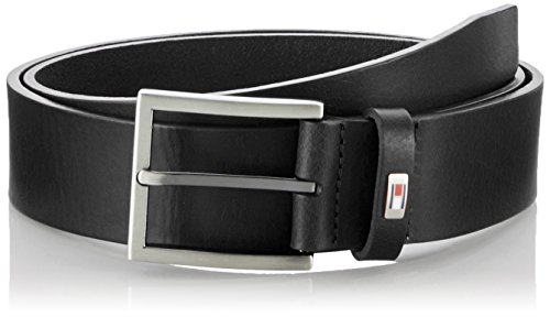 Tommy Hilfiger Hampton Belt, Cintura Uomo, Nero (Black 990), 100 (Taglia Produttore:100)