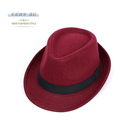 DMXY-Nouveau style gentleman Sir Hat Cap visor hat peu rétro Angleterre stade occasionnels caps Wine red