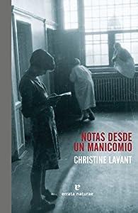 Notas desde un manicomio par Christine Lavant