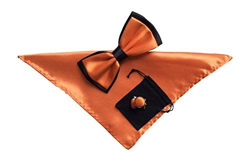 Sock Snob Boutons de manchette pour homme fly einstecktuch et no2 donné orange clair