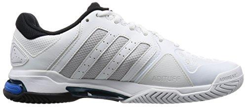adidas Barricade Club, Chaussures de Tennis Homme Blanc (Ftwr White/Matte Silver/Core Black)