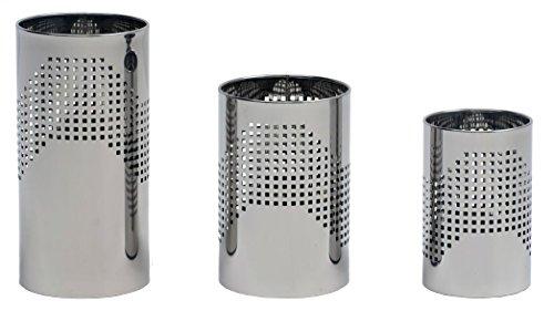 Graepel g-line pro design quadrotto italienne corbeille à papiers en acier noir laqué taille graepel: 25 x h 50 litres 24