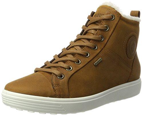 Ecco Soft 7 Ladies, Sneaker a Collo Alto Donna Marrone (Amber)