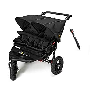 Out n About Nipper Double Plus Free Tyre Pump - Raven Black   6