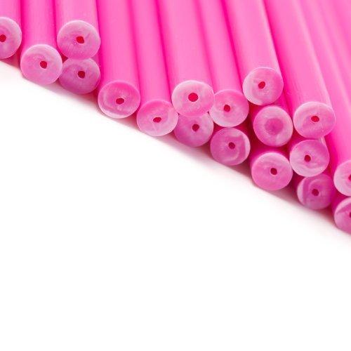 x 50 114mm x 4mm pink farbigen Kunststoff- Lollies Lutscher Kuchen Stiele Basteln von loypack