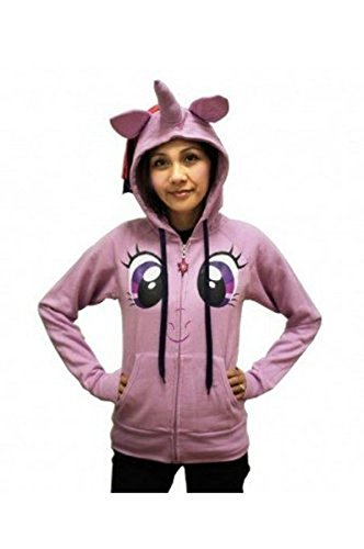 My Little Pony Twilight Sparkle Face Junior Lilac Kostüm Hoodie With Mane & Horn (Junior - Twilight Pony Kostüm