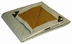 10 x 12 Dry Top Heavy Duty Silver/Brown Reversible Full Size 10-mil Poly Tarp item 210125