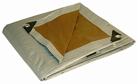 12' x 16' Dry Top Heavy Duty Silver/Brown Reversible Full Size 10-mil Poly Tarp item #212167