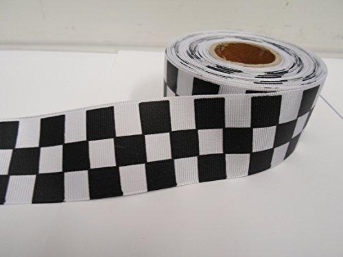 2-metros-bloque-cuadrado-de-38-mm-x-tejida-cinta-del-grosgrain-negro-y-blanco-a-cuadros-modelo-a-cua