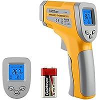 Termometro Digitale -50°C - 550°C Tacklife IT-T04 Termometro Laser Misuratore a Infrarossi di Temperatura Senza contatto Emissività Regolabile 0,1-1,0 Valore Max Retroilluminato Display