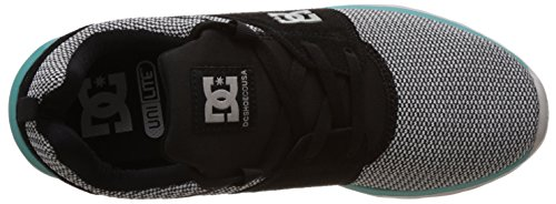 DC Shoes Heathrow Se, Baskets Basses Homme Gris (Grey/Black/Green)