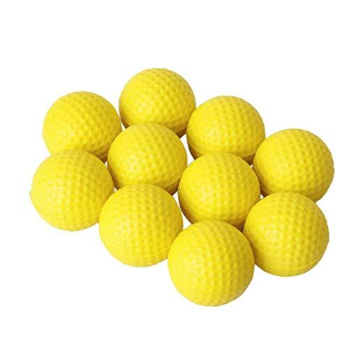 Pratica Golf Ball Golf Ball Pu morbida Dimpled elastico coperta Outdoor Training gomma piuma molle della sfera di golf 10pcs gialle