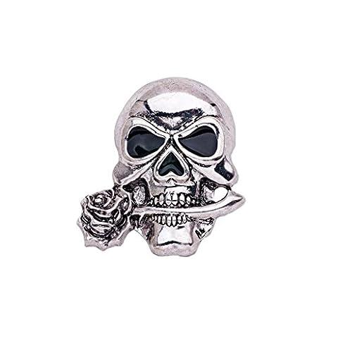 Décors Et Costumes Dhalloween - Broche Gothique Punk Forme Crâne Clip Effrayant