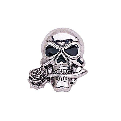 kopf Form, Geschenkidee für Halloween, Kleidung Schmuck - Silber ()