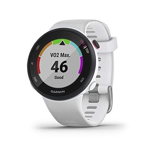 Garmin Forerunner 45S/P - Reloj Multisport con GPS, Tecnología Pulsómetro Integrado, color blanco