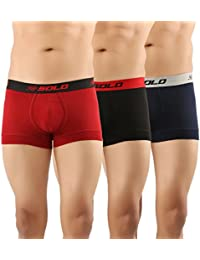SOLO Men's Modern Grip Short Trunk Cotton Stretch Ultra Soft Classic Boxer Brief (Pack of 3)