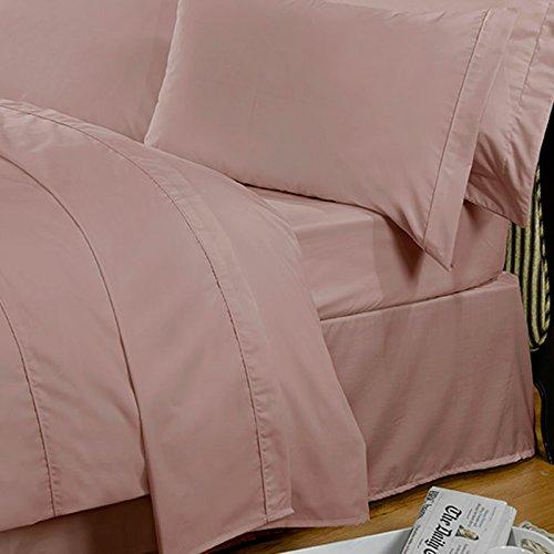 Unifarbene highams 100% ägyptische Baumwolle Bettlaken–mehrere Farben und Größen, baumwolle, Pink - Vintage Pink, 178 x 1 x 260 cm (Italienische Bettwäsche Aus Ägyptischer Baumwolle)