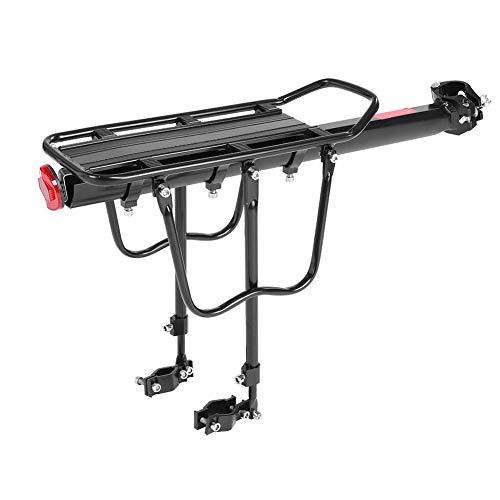 Dilwe Fahrrad Gepäckträger, Universell Einstellbar 50 kg Gepäckträger Gepäckträger mit Reflektor für die Meisten Fahrräder