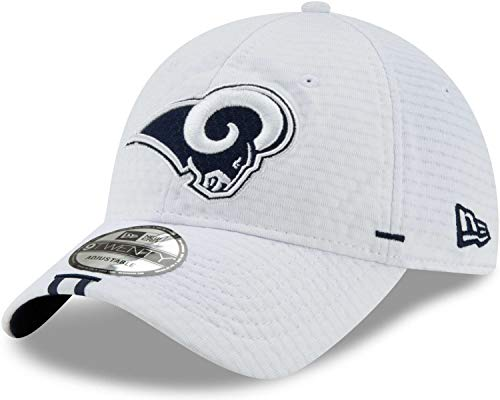 New Era - NFL Los Angeles Rams On Field 2019 Training 9Twenty Cap - Weiß Größe One Size (Rams Bekleidung)
