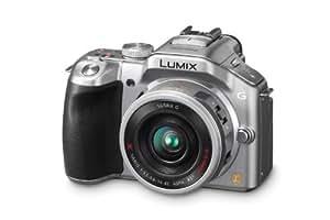 Panasonic Lumix DMC-G5XEG-S Systemkamera (16 Megapixel, 16-fach opt. Zoom, 7,6 cm (3 Zoll) Touchscreen, Full-HD Video, bildstabilisiert) silber inkl. Lumix G X Vario PZ 14-42mm OIS Objektiv